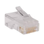 Tripp Lite RJ45 Plugs for Round Solid / Stranded Conductor 4-pair Cat5e Cable, 100-Pack