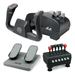 CH Products Captains Pack For PC & Mac (Inc USB Yoke, Quad Throttle & Pro Pedals)