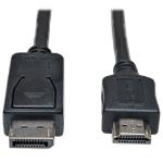 """Tripp Lite DisplayPort - HDMI, m-m, 4.5m 177.2"""" (4.5 m) Black,Metallic"""
