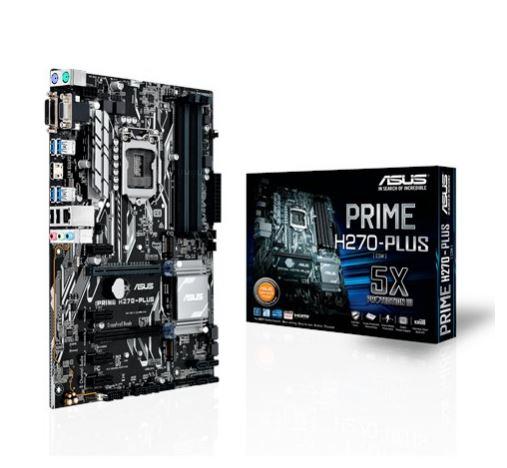 ASUS Intel H270,LGA-1151, 4 x DIMM Max. 64GB, Realtek RTL8111H GBLan, Realtek ALC887 Audio, M.2 Socket 3,