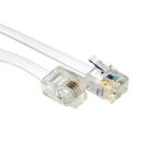 Cables Direct RJ-11, 10m telephony cable White