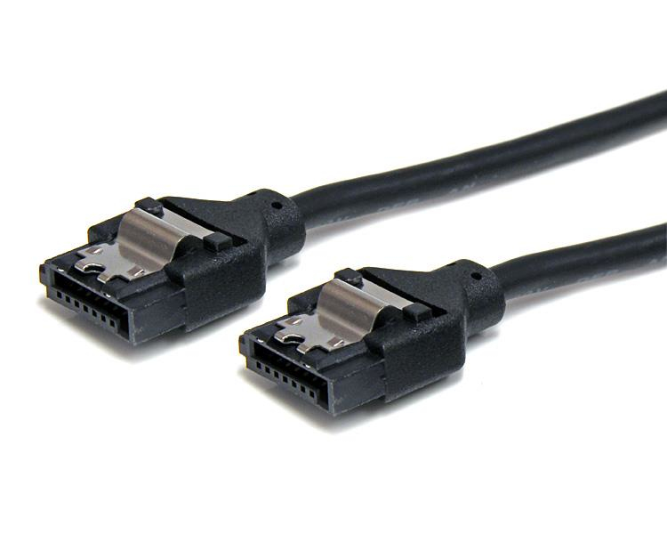Latching Round SATA Cable - 18in