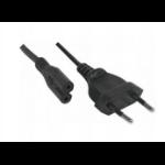Hypertec 808310-HY power cable Black 3 m CEE7/16 C7 coupler
