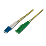 ASSMANN Electronic E2000 / LC 10m Glasvezel kabel OS1 E-2000 (APC) LC/PC Geel