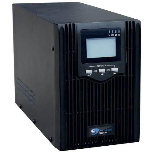 Powercool 2000VA Smart UPS, 1200W, LCD Display, 2 x UK Plug, 2 x RJ45, 4 x IEC, USB