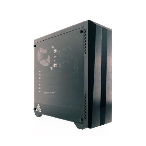 RIOTORO CR100TG  RGB Gaming Case with Tempered Glass Window & RGB Front Panel, ATX, No PSU, 1 x 12cm