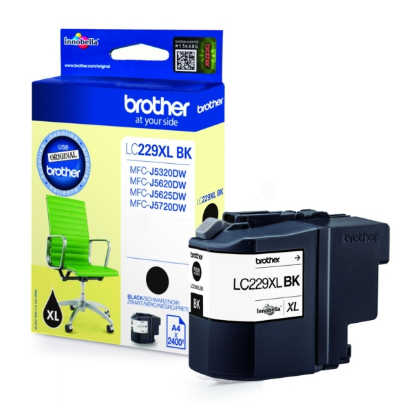 Brother LC-229XLBK Ink cartridge black, 2.4K pages, 9ml
