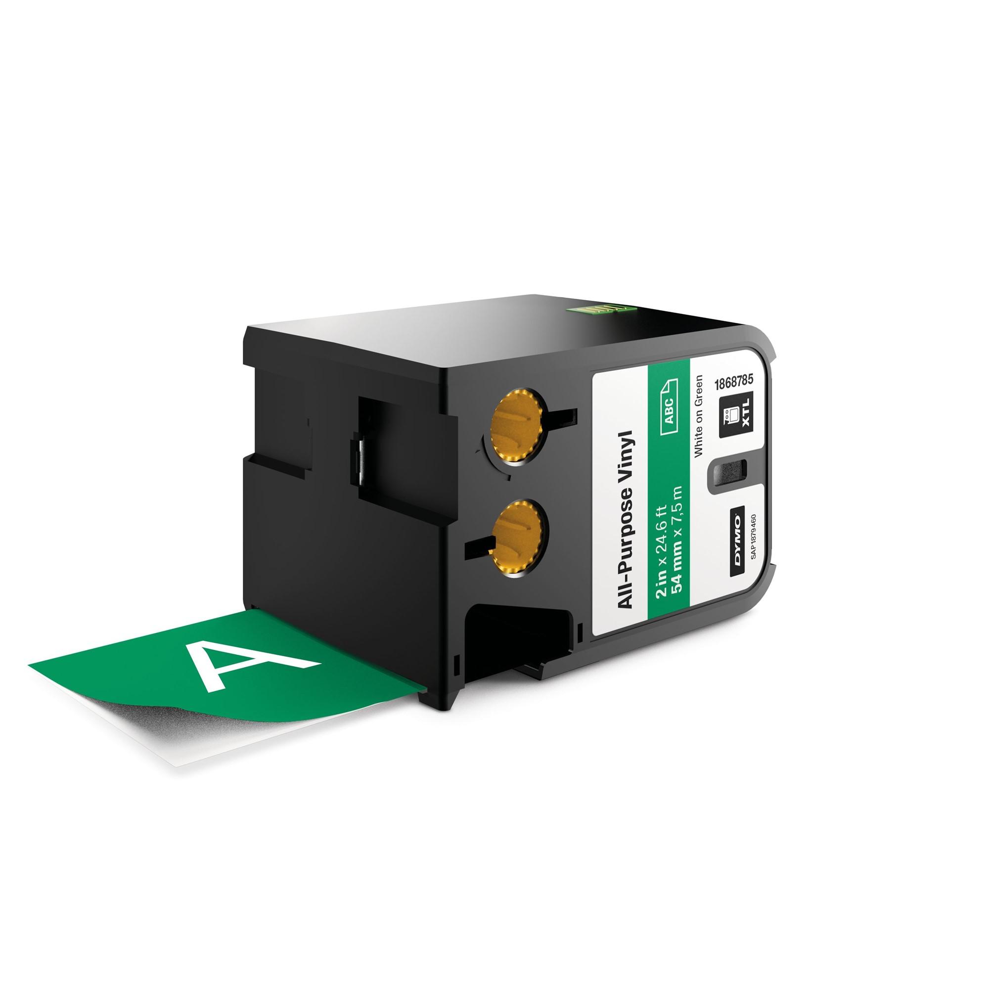 DYMO 1868785 White on green label-making tape