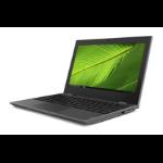 "Lenovo 100e 2nd Gen Black Notebook 29.5 cm (11.6"") 1366 x 768 pixels Intel® Celeron® 4 GB LPDDR4-SDRAM 64 GB eMMC Windows 10 Pro Education"