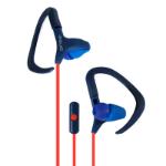 Ginga GI16AUD02HF Gancho de oreja Biauricular Alámbrico Azul, Rojo auricular para móvil