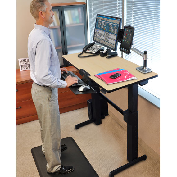 Ergotron Workfit D Sit Stand Desk Sand Computer Desk 1