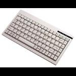 Adesso Mini keyboard with embedded numeric keypad (White) USB QWERTY White