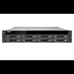 QNAP TS-EC880U R2 Ethernet LAN Rack (2U) Black NAS