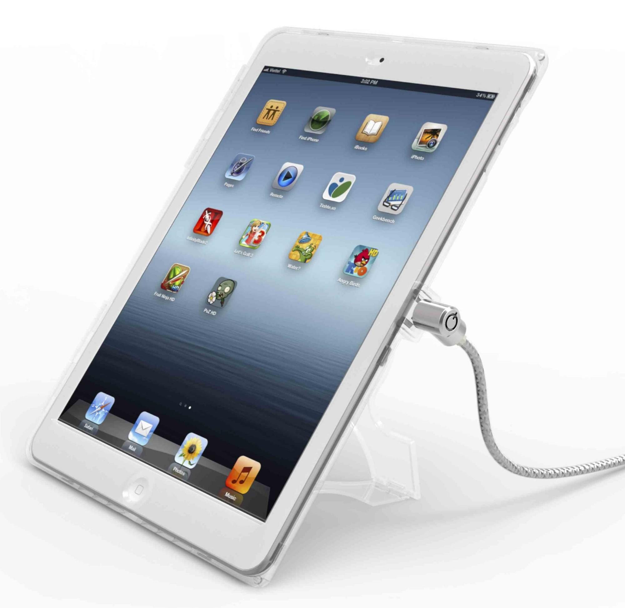 Compulocks iPad Air CB cable antirrobo Plata, Transparente
