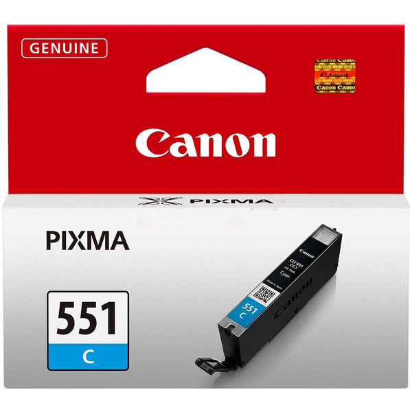 Canon 6509B001 (CLI-551 C) Ink cartridge cyan, 332 pages, 7ml