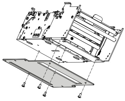 Zebra P1027728 Impresora de etiquetas pieza de repuesto de equipo de impresión