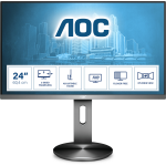 AOC I2490PXQU/BT PC Flachbildschirm 60,5 cm (23.8 Zoll) 1920 x 1080 Pixel Full HD LED Grau