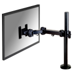 "Newstar Full Motion Desk Mount (grommet) for 10-30"" Monitor Screen, Height Adjustable - Black"