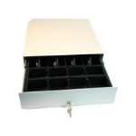 APG Cash Drawer SLIM-Slide out, 8/4, white