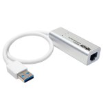 Tripp Lite USB 3.0 SuperSpeed to Gigabit Ethernet NIC Network Adapter, 10/100/1000, Plug and Play, Aluminum