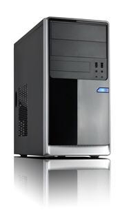 Casecom CM13  mATX w/550W Black/Silver USB3+USB2,HDAudio