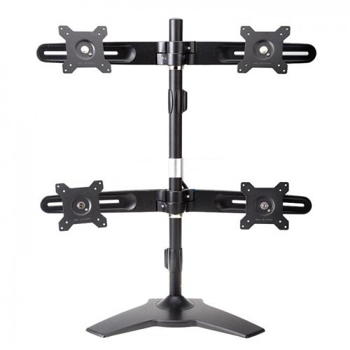 Quad Monitor Desk Mount Stand Base