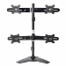 "Amer AMR4S 24"" Freestanding Black flat panel desk mount"