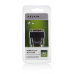 Belkin F2E4162CP2 cable interface/gender adapter DVI HDMI Black