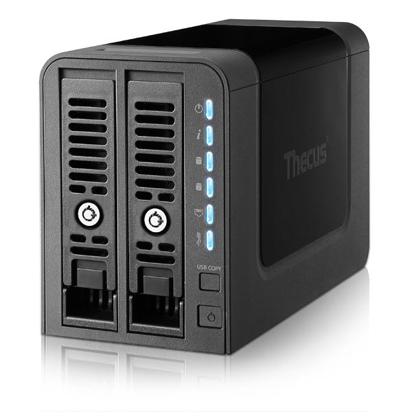 Thecus N2350 NAS Tower Ethernet LAN Black storage server