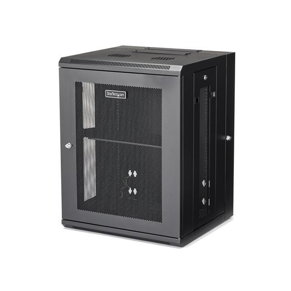 """StarTech.com 15U Serverkast rack wand monteerbaar diepte tot 20"""" / 50 cm scharnierende behuizing"""