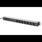 Digitus DN-95412 7AC outlet(s) 1U Black, Silver power distribution unit (PDU)