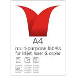 Stampiton A4 White Labels 21 Per Sheet 63.5x38.1 100 Sheets