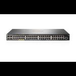 Hewlett Packard Enterprise Aruba 2540 48G PoE+ 4SFP+ Managed L2 Gigabit Ethernet (10/100/1000) Power over Ethernet (PoE) 1U Grey