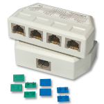Lindy UTP/RJ45 4 Port Y Adapter network splitter White