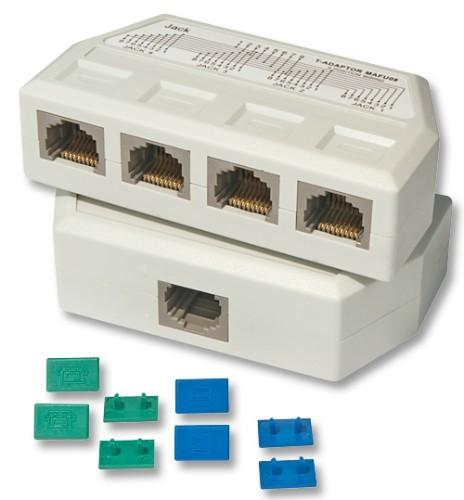 Lindy UTP/RJ45 4 Port Y Adapter network splitter White
