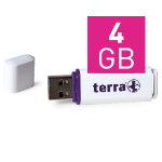 Wortmann AG TERRA USBee USB2.0 4GB 14/4 4GB USB 2.0 Type-A White USB flash drive
