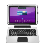 """Tetratab Casebook 3 Rugged 10.1"""" 2-in-1 Laptop / Tablet with Detachable Keyboard & Stylus, 4G LTE, Intel Quad"""