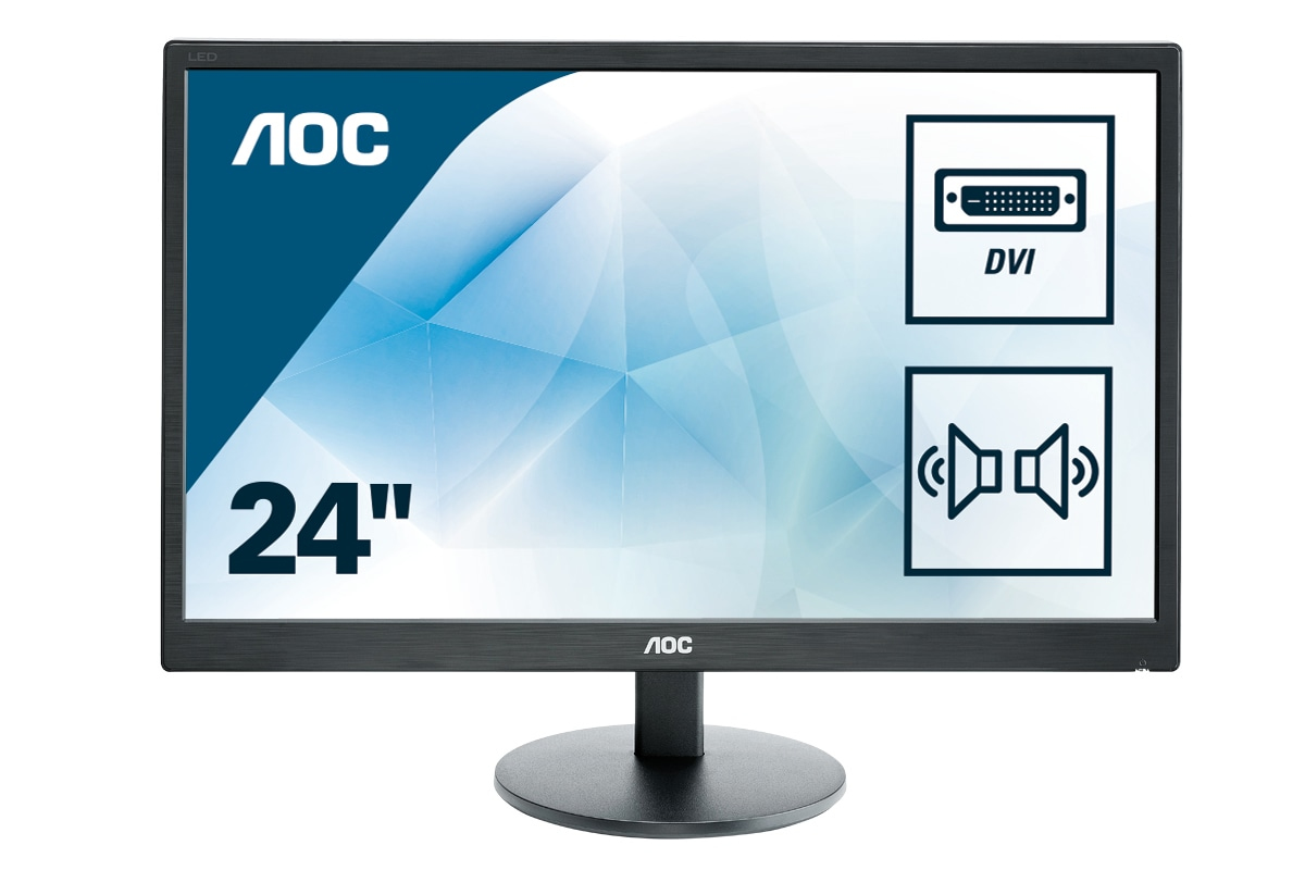 "AOC Basic-line E2470SWDA LED display 59,9 cm (23.6"") 1920 x 1080 Pixeles Full HD Plana Mate Negro"