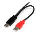 StarTech.com 3 ft USB Y Cable for External Hard Drive - Dual USB-A to Micro-B USB2HAUBY3