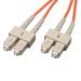 Tripp Lite Duplex Multimode 62.5/125 Fiber Patch Cable (SC/SC), 1M (3-ft.)