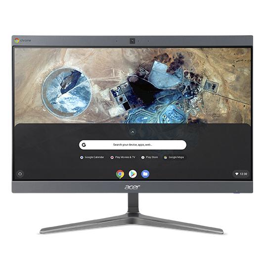 "Acer Chromebase CA24I2 60,5 cm (23.8"") 1920 x 1080 Pixeles Intel® Celeron® 4 GB DDR4-SDRAM 32 GB SSD Wi-Fi 5 (802.11ac) Gris PC todo en uno Chrome OS"
