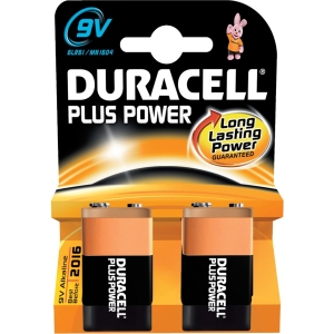 Duracell Plus Power 9v 2-pk