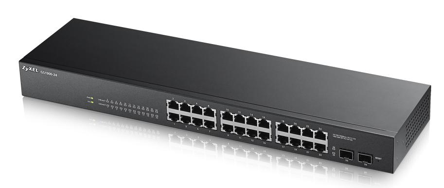 Zyxel GS1900-24 Gestionado L2 Gigabit Ethernet (10/100/1000) Negro