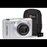Praktica Luxmedia Z212 Camera Kit including 32GB MicroSD Card & Case - Silver