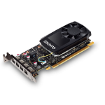 PNY VCQP1000DVI-PB graphics card Quadro P1000 4 GB GDDR5