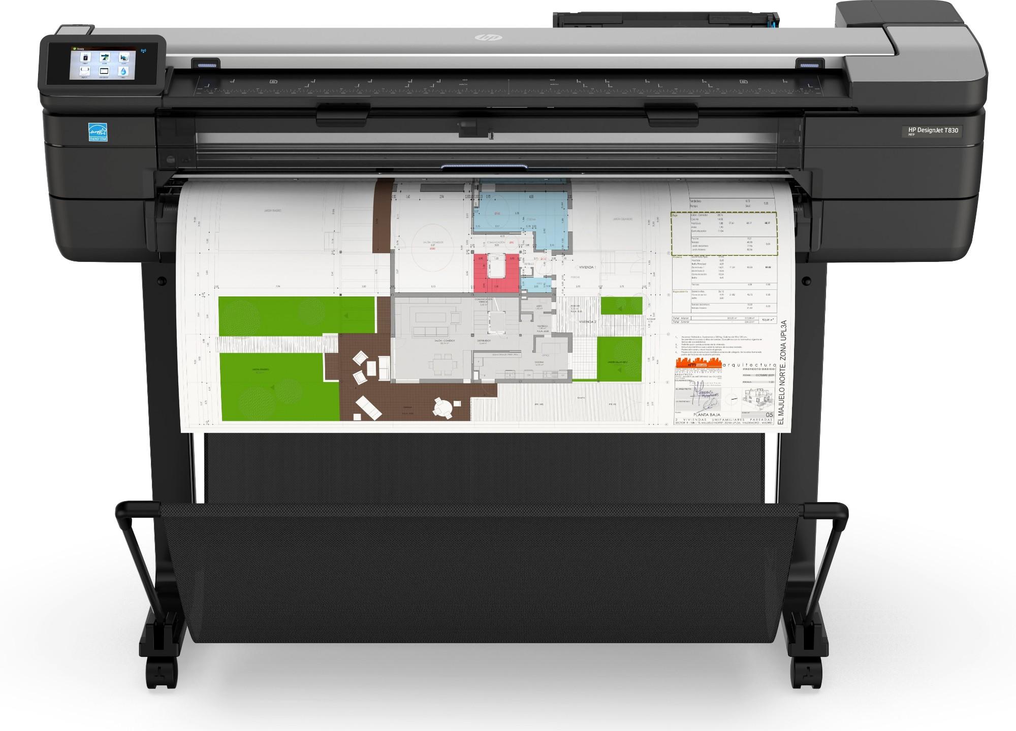 HP Designjet T830 large format printer Wi-Fi Thermal inkjet Colour 2400 x 1200 DPI A0 (841 x 1189 mm) Ethernet LAN