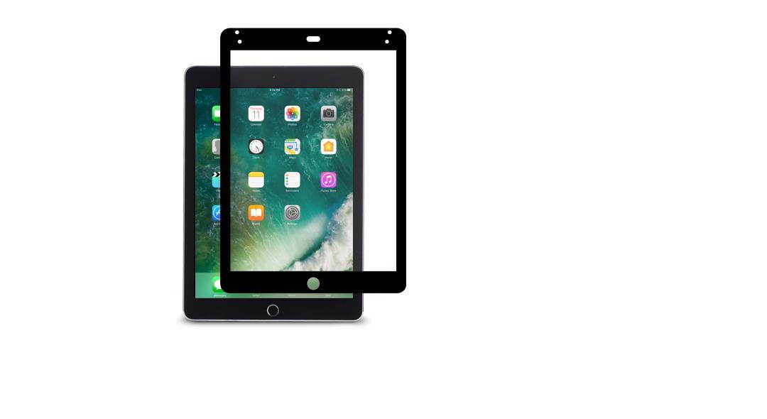 Moshi iVisor AG, Anti-glare screen protector, Apple, iPad 2017, Scratch resistant, Black, Transparent, 1 pc(s)