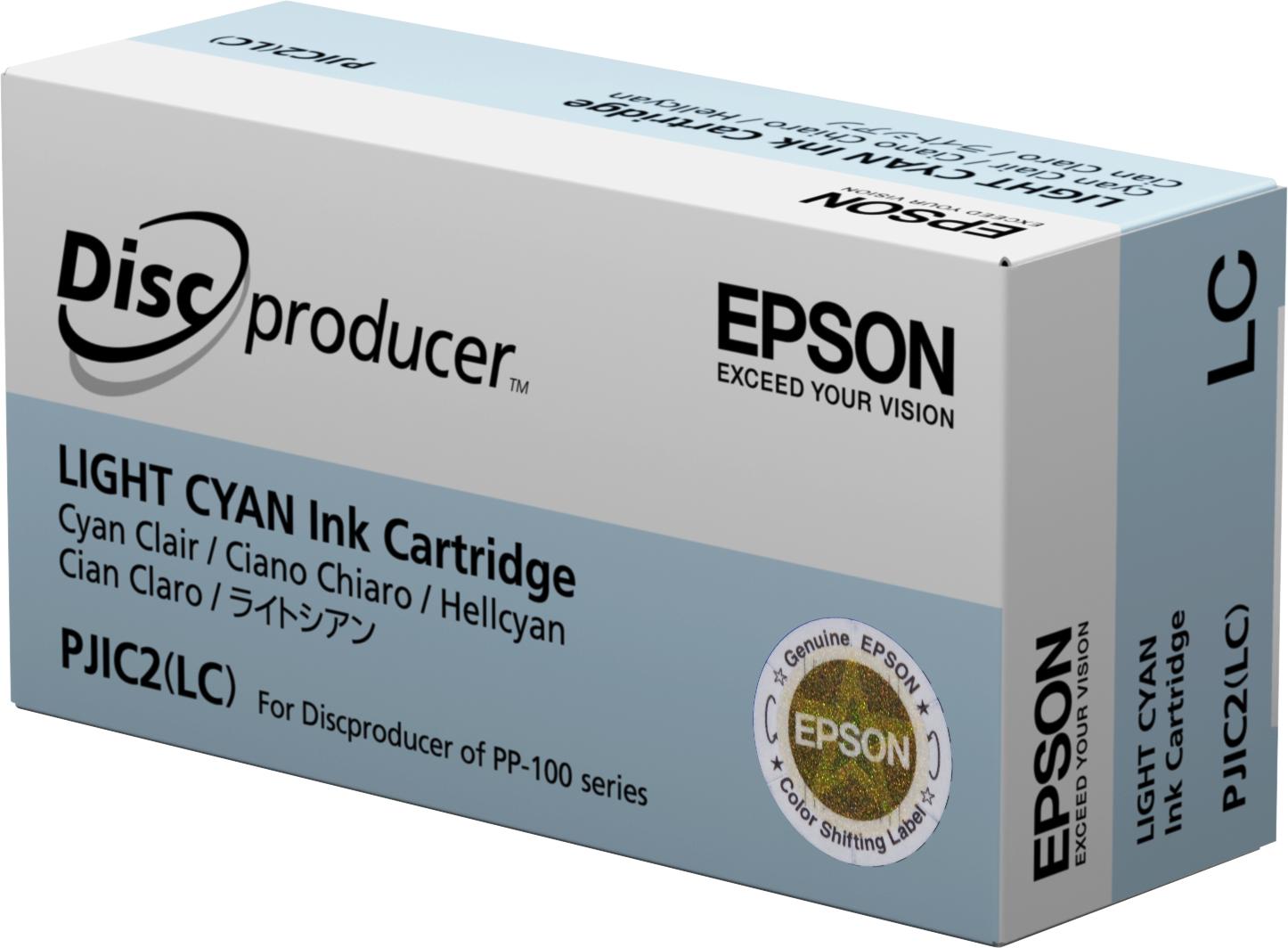 Epson Cartucho Discproducer cian claro (cantidad mínima=10)