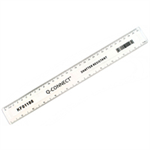 Q-CONNECT Q CONNECT RULER SHATTERPROOF 30CM CLEAR