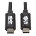 Tripp Lite Thunderbolt 3 Cable 40 Gbps Passive 5A 100W Power Delivery, 4K / 60 Hz, USB C, M/M, 0.5M, Black
